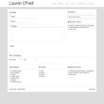 Lauren's Contact Form